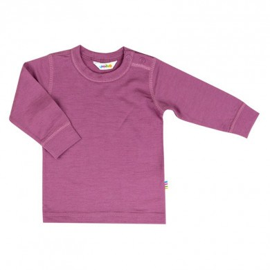 Joha langærmet bluse i merinould. Mørk rosa.