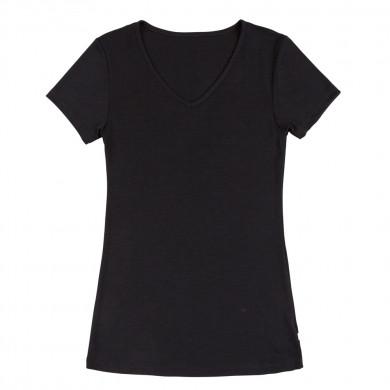 Joha dame T-Shirt i uld-silke. Sara. Sort.