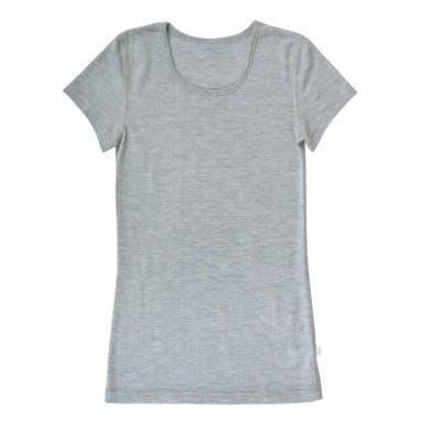 Joha dame T-shirt. 100% uld. Rose. Grå.