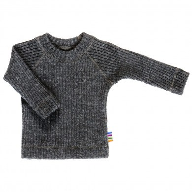 Joha strik trøje i 100% uld. Koksgrå.