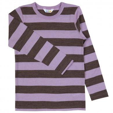 2b64fe2d Joha uld bluse -Brun og lilla. Hurtig, billig levering!