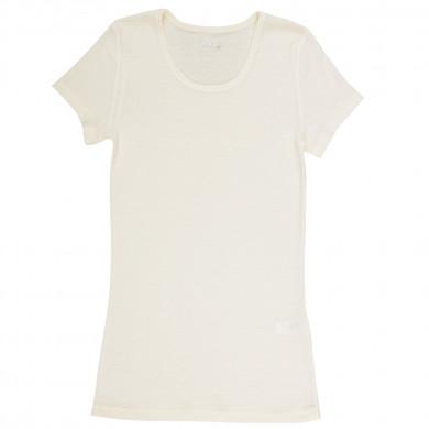 Joha dame T-Shirt i 100% uld. Marie. Råhvid.