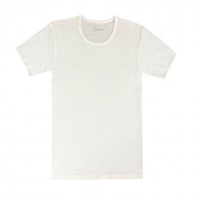 Joha herre T-Shirt i 100% uld. Johansen. Råhvid.