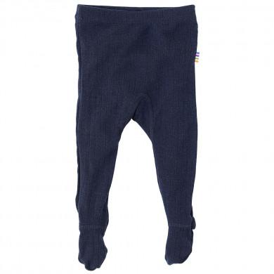 Joha leggings m-fod i 100% uld. Marine.
