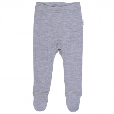 Joha leggings m-fod i 100% uld. Grå.