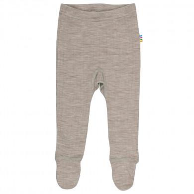 Joha leggings med fod i 100% uld. Sesame Melange.