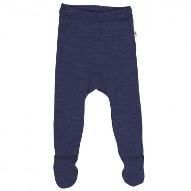 Joha leggings-m-fod i uld-silke. Marine rib.