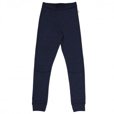 Joha leggings til de store i uld-silke. Marine.