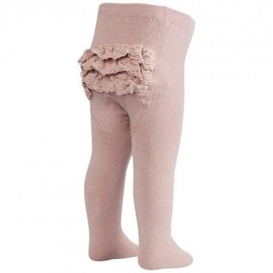 Mp-Danmark flæse strømpebukser i uld. Rosa.