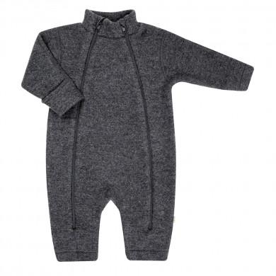 Joha Soft Wool barnevognsdragt m-lynlås. Koksgrå.