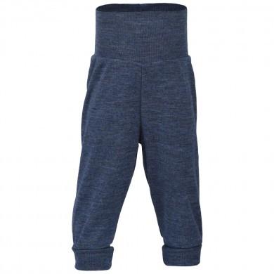 Engel baby bukser i 100% merinould. Blå.
