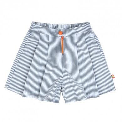 Katvig pige shorts i 100% GOTS, økologisk bomuld. Blå stribet.
