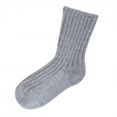 Joha uld sokker i 90% merinould. Lysegrå.