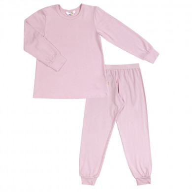 Joha pyjamas sæt i rosa viskose-bambus.