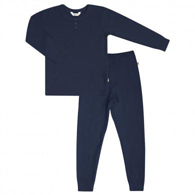 Joha pyjamas sæt i mørkeblå viskose-bambus.