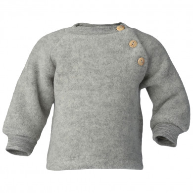 Engel baby fleece sweater i 100% merinould. Grå.