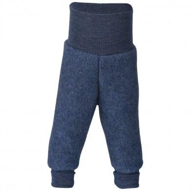 Engel baby fleece bukser i 100% merinould. Blå.