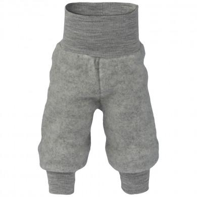 Engel baby fleece bukser i 100% merinould. Grå.