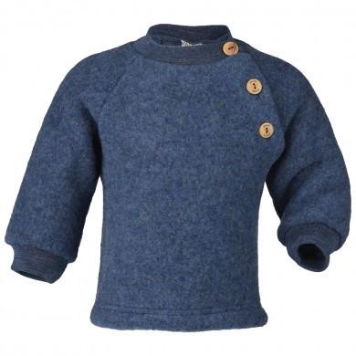 Engel baby fleece sweater i 100% merinould. Blå.