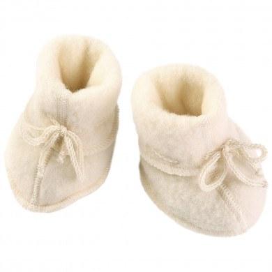 Engel baby fleece futter i 100% merinould. Råhvid.