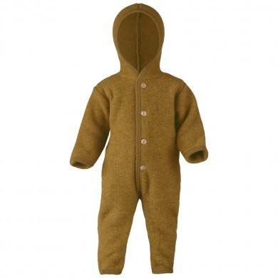 Engel barnevognsdragt med hætte i 100% uld. Safran Melange.