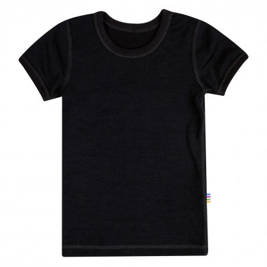 Joha T-Shirt i uld-bomuld. Sort.