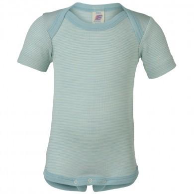 Engel kortærmet body i uld-silke. Mint.