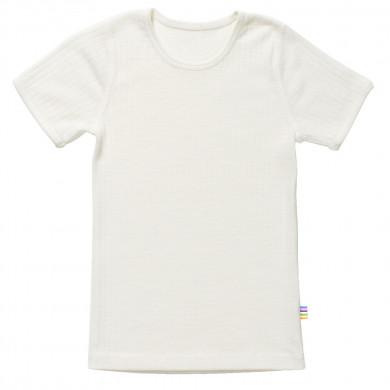 Joha T-Shirt i 100% uld. Råhvid.