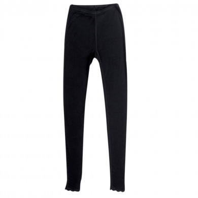 Joha dame leggings i 100% uld. Cecilie. Sort.