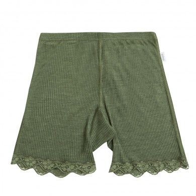 Joha dame shorts Kate i uld-silke. Olivengrøn