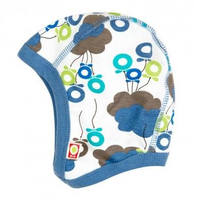Katvig hjelm i 100% økologisk bomuld. EU Ecolabel certificeret. Dreng skyballon.