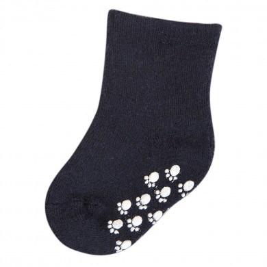 Joha skridsikre uld sokker 90% uld. Mørkeblå.