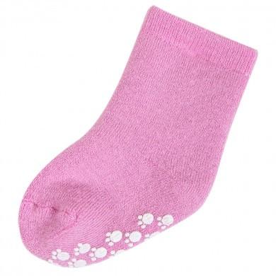 Joha skridsikre uld sokker 90% uld. Lyserøde.
