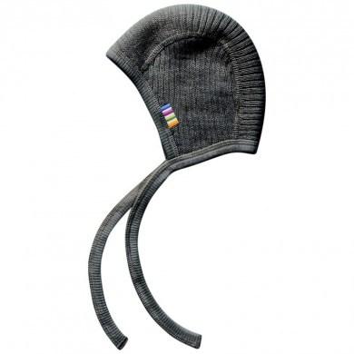 Joha strik hjelm i 100% uld. Koksgrå.