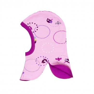 Joha elefanthue i uld-bomuld. Rosa print.