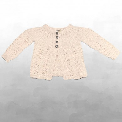 Shirley Bredal Edith baby cardigan. Pudder farvet. Mini.