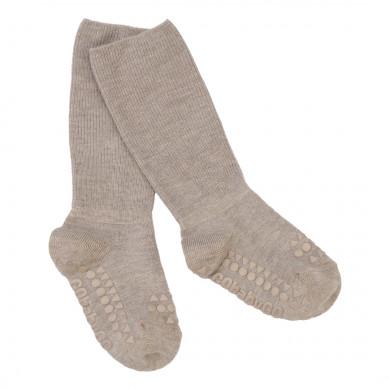 GoBabyGo Skridsikre sokker i bambus - Sand