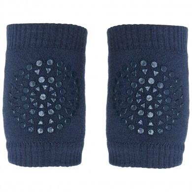 GoBabyGo skridsikre knæbeskyttere i bomuld. Mørkeblå.