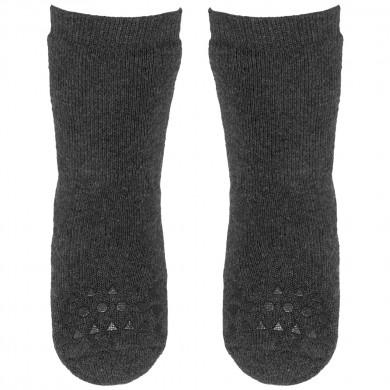 GoBabyGo skridsikre sokker i bomuld. Mørkegrå.