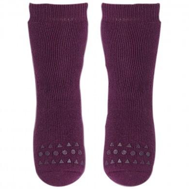 GoBabyGo Skridsikre sokker i bomuld. Bordeaux.