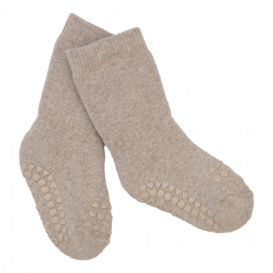 GoBabyGo skridsikre sokker i bomuld - Sand