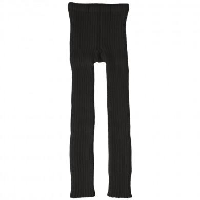 Esencia rib leggings i 100% alpaka uld. Mørkegrå.