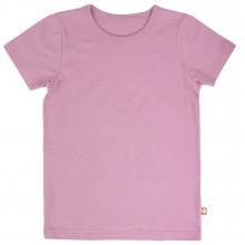 Katvig T-shirt i økologisk bomuld. Rosa.