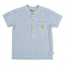 Katvig skjorte i 100% GOTS, økologisk bomuld. Blå stribet.