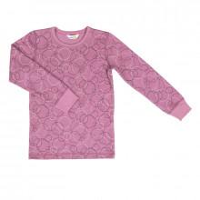 Joha langærmet bluse i uld-bomuld. Rosa cirkel.