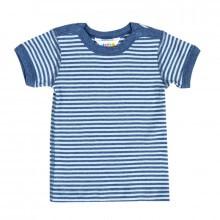 Joha T-shirt i 100% bomuld. EU Ecolabel certificeret. Blå strib.
