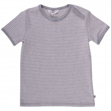 Müsli T-shirt 100% økologisk bomuld. Grå melange strib.