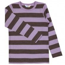 Joha bluse i 100% uld. Stribet i brun og lilla.