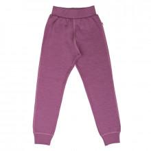 Joha bukser i 100% merinould. Mørk rosa.