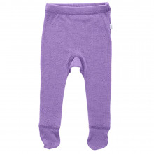 Joha legging m-fod i uld-silke. Lilla m-hulmønster.
